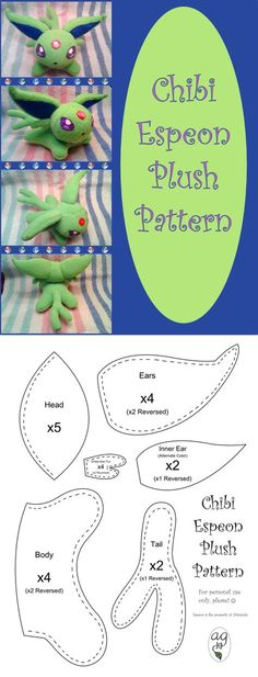 The world is Pokemon-crazy right now, and it doesn't just stop at Pokemon Go - there are Poke-projects in the craft world too! Pokemon projects to make. Plushie Patterns, Felt Patterns, Sewing Patterns, Crochet Patterns, Sewing Toys, Sewing Crafts, Sewing Projects, Sewing Art, Free Sewing