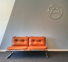 Vintage Danish Modern Chromed Lounger Sofa. Milo Baughman style knoll mid century modern eames era on Etsy, $1,295.00