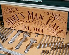 Man Cave Signs Personalized Uk : Rustic distressed man cave sign personalized wooden carved