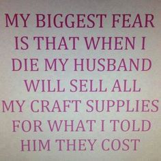 Another reason I am glad not to have to answer to a husband regarding my quilting costs!