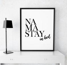 Art Digital Print Namaste Poster Namastay in bed