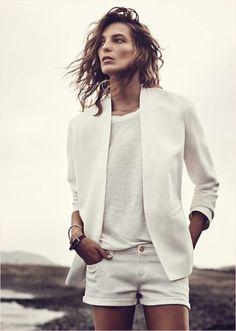 Daria Werbovy | Mango Lookbook: Summer 2014