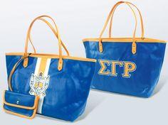 Sigma Gamma Rho Leather Tote Bag