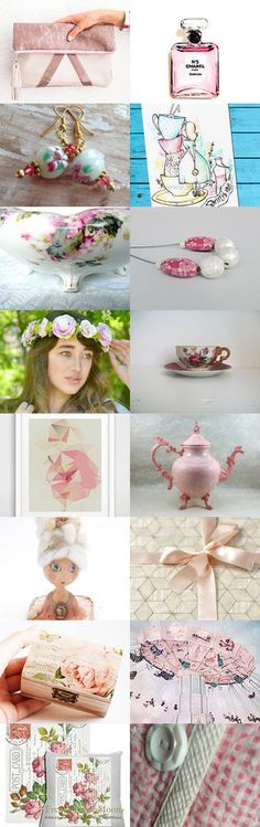 Pink Melody by FrenchPaperMoon on Etsy--Pinned+with+TreasuryPin.com