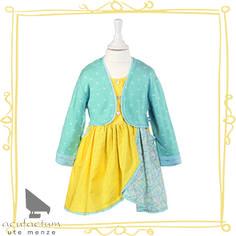 """Kleidchen aus Jacquardstoff aus dem Buch """"Märchenzauber"""" #acufactum #naehen #kleid #stoff #kind #sew #cloth #children #dress #cotton"""