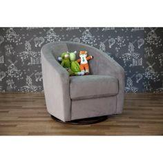 Babyletto Madison Swivel Glider - Slate - Nursery Furniture at Hayneedle