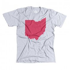 Ohio 7420C HeatherGrey 2048x2048 480x480 Pixelated US state tees by Pixelivery