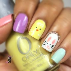 Adorable Easter Nail Art Designs You Must Try Easter nails; Egg And Bunny Nail Art Designs; Nail Art Designs, Easter Nail Designs, Easter Nail Art, Short Nail Designs, Nails Design, Nail Designs Spring, Design Design, Design Ideas, Diy Nails