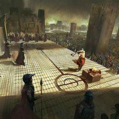 "Fall of the  betrayer  Stunning painting by concept artist Aurelien Fournier     ______…"""