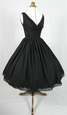 An elegant 50s style cocktail dress. Classic design by elegance50s, $285.00 ~~~Hellloooooo Audrey!