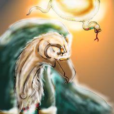 The Sun's Radiance (Ra the Egyptian Sun God) by Chloe Bedford