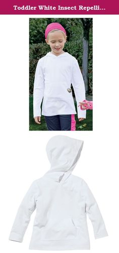 Toddler White Insect Repelling Cotton Fleece Hoodie by Bug Smarties, Size 4T. Insect Shield Repellent Apparel are revolutionary products designed to provide long-lasting, odorless insect protection. Recommended by the CDC, WHO and The American Academy of Family Physicians, the protection provided by this apparel is the end result of years of research and testing. - EPA Registered - Insect Shield products have been rigorously evaluated to assure that they will not have adverse health…