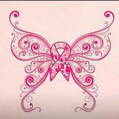 Butterfly breast cancer tattoo.... maybe to put on a shirt @J E Passet ?