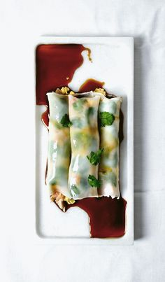 DIM SUM MONTH: Creamy salmon & egg in rice wrapper rolls – Lady and Pups – an angry food blog