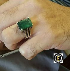 Jewelryonclick Indian Emerald CZ Gold Plated Statement Rings Her Oval May Handmade Jewelry Size 4-12