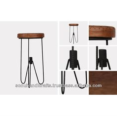 VINTAGE INDUSTRIAL IRON WOODEN STOOL, View VINTAGE INDUSTRIAL IRON WOODEN STOOL, SONU HANDICRAFTS Product Details from SONU HANDICRAFTS on A...