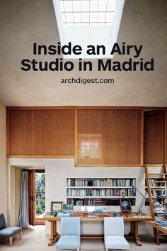 Landscape Designer Fernando Carucho's Airy Studio in Madrid - The Kiosk features a skylit private office and sleeping loft; the linen-clad chairs and hazel-wood tables are Fernando Caruncho designs. Architectural Digest, Interior Design Inspiration, Home Decor Inspiration, Interior Architecture, Interior And Exterior, Modern Exterior, Interior Styling, Interior Decorating, Living Vintage