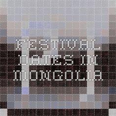 festival dates in Mongolia