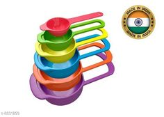 Soap Dishes 6 Pcs Measuring Cup Spoons Kitchen Tools, Bakeware Rainbow Colors Material: Plastic Pack: Pack of 1 Product Length: 6.5 cm Product Breadth: 6.5 cm Product Height: 15 cm Country of Origin: India Sizes Available: Free Size   Catalog Rating: ★3.9 (1481)  Catalog Name: Unique Soap Dishes CatalogID_1512845 C132-SC1585 Code: 051-8831299-991