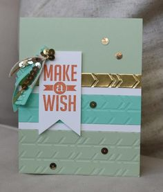 Stampin' Up! - Make A Wish Perfect Pennants - Occasions 2014 - Sarah Sagert - www.sarahsagert.stampinup.net/blog