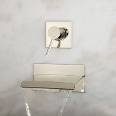 Lavelle Wall Mount Tub Faucet with Waterfall Spout - Tub Faucets - Bathroom $219.95