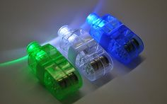 Finger led, para encaixar nos dedos e fazer um show de luzes.