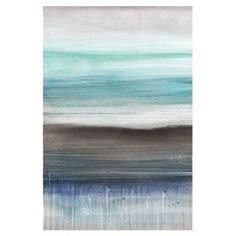 """Showcasing an abstract shoreline motif, this eye-catching canvas print brings artful appeal to your home office or library.    Product: Canvas printConstruction Material: Wood and canvasFeatures: Ready to hang Gallery-wrappedDimensions: 36"""" H x 24"""" W"""