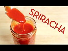 Make your own Sriracha hot sauce at home, it's much easier than you think! Recipe from Pailin Chongchitnant of Hot Thai Kitchen Hot Sauce Recipes, Thai Recipes, Asian Recipes, Dip Recipes, Sriracha Sauce, Ketchup, Dips, Asian Cooking, Side Dishes