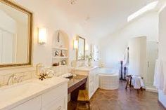 need to make emma's washroom feel like this ... darn terrecotta tiles in white washroom