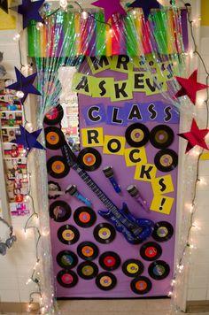 Rock And Roll Bulletin Board Back To School Preschool Bulletin