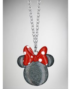 Glitter Minnie Mouse Necklace