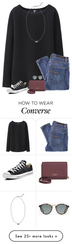 """new username! (same hashtags though)"" by lilypackard on Polyvore featuring Uniqlo, Nobody Denim, Madewell, Kate Spade, Abercrombie & Fitch, Converse, women's clothing, women's fashion, women and female"