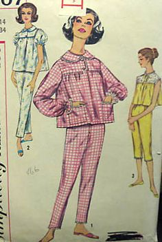 1950s Pajama patterns that could be used - Sophie