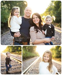 Family outdoor photos on train tracks #tentinytoes
