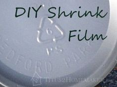 Details and #tutorial for making your own shrink film (like shrinkydinks) from plastic you already have around #t2hmkr