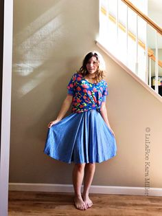 LuLaRoe Nicole dress with layered and knotted floral Classic tee for spring and summer fashion trends and style inspiration. Shop here: https://www.facebook.com/groups/LularoeKaraMiller/