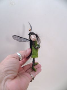 ooak poseable TINY  pissed off pixie FAIRY 73 art by dinkydarlings, $59.00