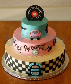 50's Theme Birthday Cake