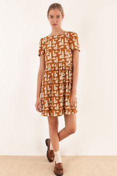 Abito a maniche corte - stampa di Anna Kövecses Abbigliamento Donna Made in…