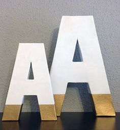 gold dipped free standing letters
