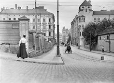Helsinki, Finland, by I. History Of Finland, Visit Helsinki, Map Pictures, History Of Photography, Vintage Photography, Interesting History, Old Buildings, Beautiful Buildings, Historical Photos