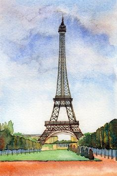 Eiffel Tower In Paris Painting by Susan Wilhoit - Eiffel Tower In Paris Fine Art Prints and Posters for Sale
