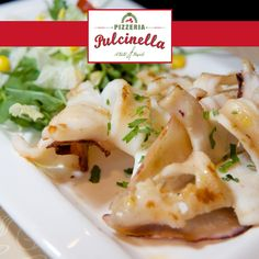 Your grilled squid Italian recipes are waiting as fulfilled by Pizzaria Pulcinella. pulcinelladubai.com   800 PIZZERIA