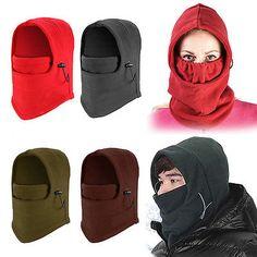 New Men Women Winter Fleece Balaclava Hat Ski Motorcycle Neck Face Mask Hood Cap French Beret Hat, Snood Scarf, Scarf Head, Rain Hat, Black Neck, Full Face Mask, Style Casual, Balaclava, Neck Warmer