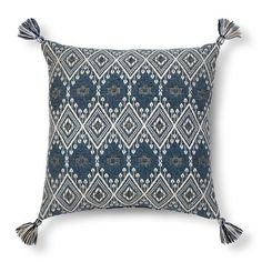 (Like? Only $20!) Metallic Woven Tassel Square Decorative Pillow Blue - Threshold™ : Target
