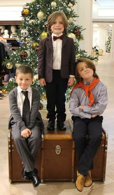 The most dapper #HarrodsofLondon gents. It seems that style runs in our #MiniHarrods family. http://www.harrods.com/brand/harrods-of-london/boys
