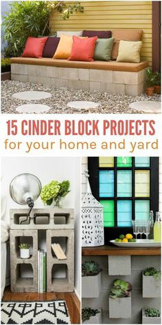 Furnishing your outdoor space and your home can be really pricey. Believe me, I know. When we moved into our home, we only had enough furniture for a couple of rooms and no budget to create an outdoor living space. I wish I had found these cinder block projects then! They're not only functional and budget-friendly, but they're actually beautiful, too. If you're a fan of the industrial look,
