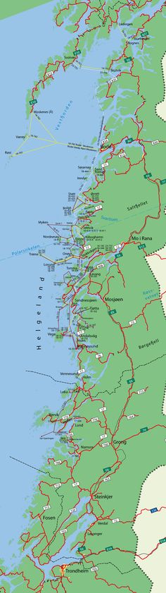 Ferjeruter - bussruter - hurtigbåtruter Nordland / Helgeland / Kystriksveien Lofoten, Tromso, Norway Travel, Fishing Villages, Trip Planning, Adventure Travel, Maps, Tourism, Road Trip
