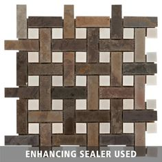 Earth Basket Weave Decorative Slate Mosaic - 12in. x 12in. - 100047968   Floor and Decor