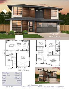 Hip Cat von Mark Stewart Home Design - Modern Home Plans - Home Design Cat House Plans, Bedroom House Plans, Modern House Plans, House Floor Plans, House Design Photos, Modern House Design, The Plan, How To Plan, Plan Ville